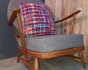 Beautiful Vintage Ercol 203 Armchair mid century - new foam, upholstery and webbing