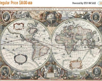 Old World Map Cross Stitch Pattern Pdf map of 1790 point de croix, embroidery - 496 x 349 stitches - INSTANT Download - B284