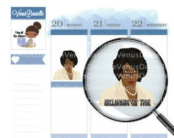Maxine Reclaiming my Time Stickers, Quote Stickers, Auntie Maxine