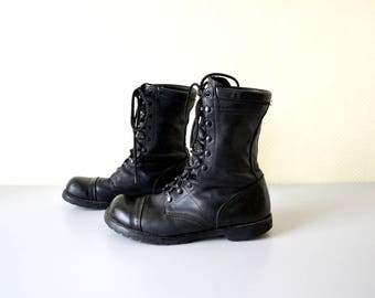 Vintage CORCORAN Boots VIBRAM made in USA / Combat Boots / Industrial Underground / size 12