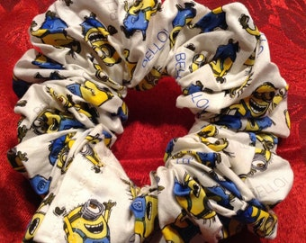 Minions Hair Scrunchie Scrunchy Perfect for Low Ponytails!Free US Shipping!!