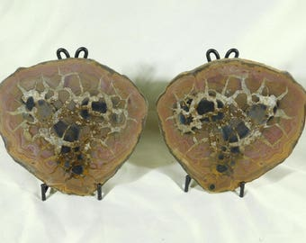 A Lightning Like Pattern! on This HUGE! Septarian Nodule! With Stands 1599gr