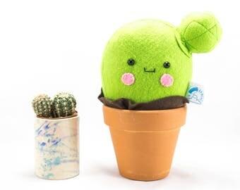 Kawaii cactus, cactus decoration, smiley cactus, stuffed cactus, felt cactus, cactus plant, cactus gift