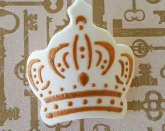 6 Vegan Gluten Free 3D Chocolate Candy Gold Crown