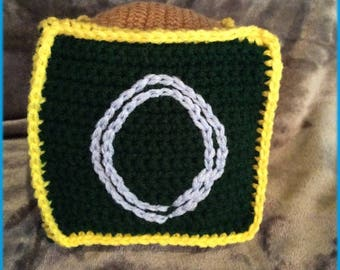 Letter O Soft Block, Hand Crocheted