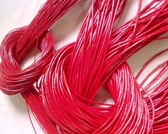 Red Leather Cord 2mm genuine Indian leather