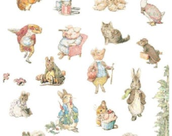 "The world of beatrix potter - counted Cross Stitch Pattern chart pdf format modern cross stitch - 17.00"" x 24.07""  - L1020"
