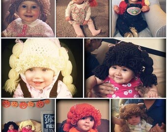 Made to Order Cabbage Patch Kid Hair Wig Costume Hats for All Ages!