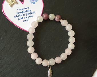 Gemstone Bracelet/Eating Disorder Recovery/Gift/Reiki Bracelet/Chakra Jewelry/Healing Bracelet/Crystal Bracelet/Handmade/Energy Bracelet