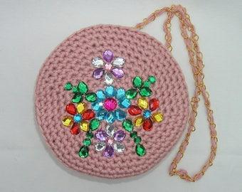 Handmade shoulder bag, day bag, casual, evening bag, handbag, fully lined, pink