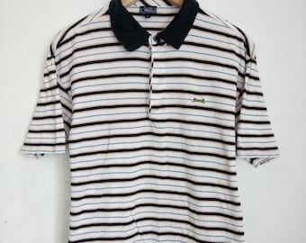 1000 ON SALE Vintage 90s Le Tigre The Classic Casual Stripes Polos Shirt