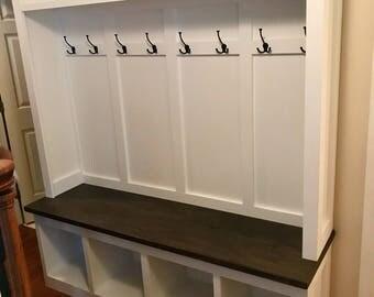 Custom Hall Tree Mudroom Bench Coat Rack Entryway Storage