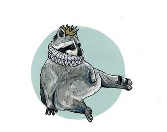 Fat Raccoon Greeting Card