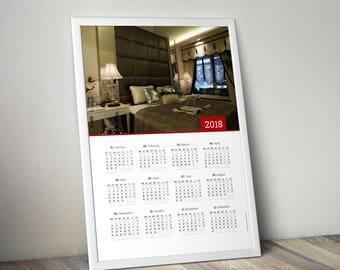 2018 Poster Wall Photo Calendar Template (KJP-W11) Size: A0, A1, A2