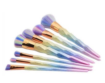 Rainbow Make up brushes