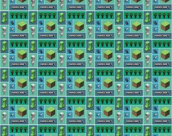 Minecraft Fabric Mojang Minecraft Mosaic Video Game Cotton Fabric Springs Creative