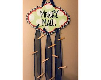 merry mail // christmas card holder // christmas decor