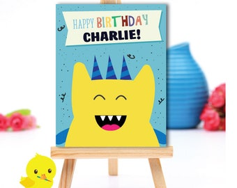 Monster Birthday Sign | Little Monster Party Sign | Monster Party decor | 1st, 2nd, 3rd, 4th, 5th Birthday | Printable Sign | Digital File