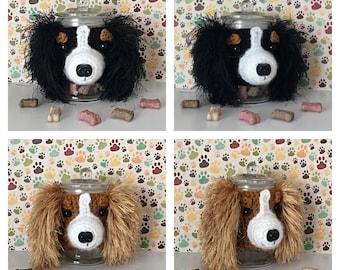 Cavalier King Charles Spaniel - Dog Treat Jar - Crazy Dog Lady - Dog Mama - Fur Mama - Best Dog Ever - Pure Breed Dog - My Kids Have Paws