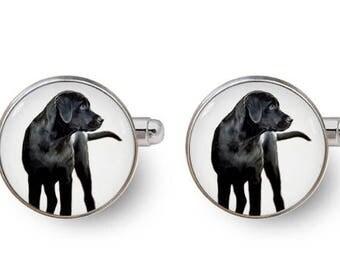 labrador cufflinks groomsmen gift mens cufflinks wedding gifts gift for dog lover -with gift box