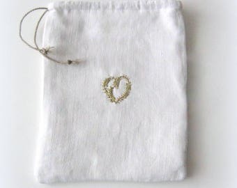 His heart of gold linen bag.