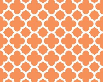 Quatrefoil Medium in Orange by Riley Blake by the HALF yard, C435-60 Orange
