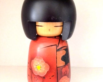 10'' Japanese Kokeshi Wooden doll, Large Kokeshi doll.