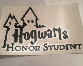 Harry Potter- Hogwarts Honor Student - 5-inch Decal