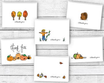 Thank You Cards Fall Collection - 24 Cards & Envelopes