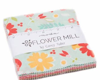 Charm Pack Flower Mill by Corey Yoder for Moda- 40 Fabrics