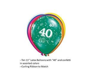 40th Latex Balloons