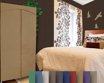 48W Portable Closet Cotton Duck Cover and Optional Split Rack