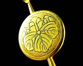 Japanese family crest Kanzashi Antique - Antique Hirauchi Kanzashi - Japanese Antique Kanzashi Hirauchi Japanese family crest | Japanese