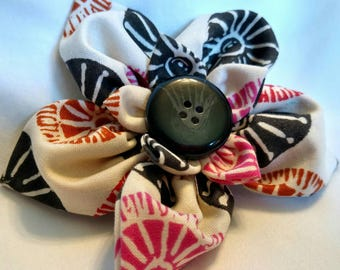 Pointy Tribal Flower Hair Pin and Broach