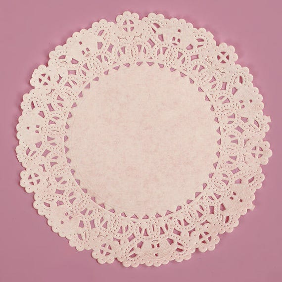 """5"""" Normandy Lace Paper Doily/White Doily/Package of 100"""
