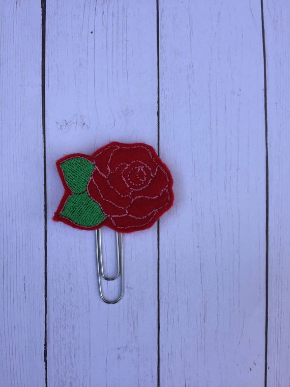 Red Rose Planner Clip/Planner Clip/Bookmark. Rose Planner Clip. Rose Gold Planner Clip. Flower Planner Clip. Floral Planner Clip