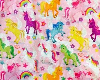 Unicorn Knit Fabric Etsy