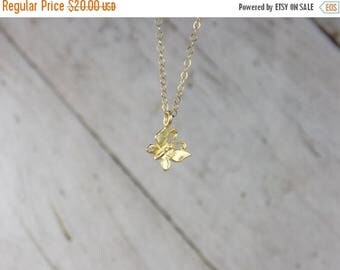 SUMMER SALE Gold Butterfly Necklace, Minimalist Necklace, Butterfly Charm Necklace, 14K Gold Filled Delicate Chain, Butterfly Pendant, Layer