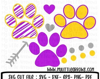 50% off - Tigers svg -  SVG, DXF, Eps, png Files - Cutting Machines Cameo or Cricut - tiger paw print svg- cute basketball svg - cute baseba