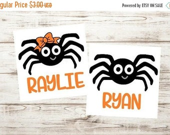 SALE- Matching sibling spiders svg - matching halloween svg - matching halloween shirts - sibling halloween outfit - twin halloween shirt sv