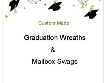 Graduation Mailbox Swag, School Swag, School Wreath, Graduation Wreath, Graduation Decorations