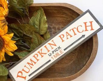 Rustic Fall PUMPKIN PATCH Sign, Fall decor, Autumn, Pumpkin decor