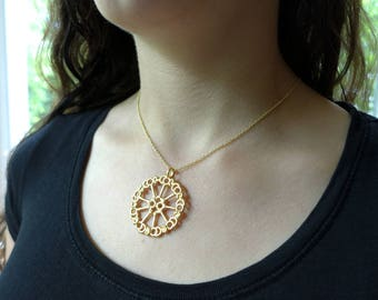 Axoneme Cytoskeleton Pendant - Science Jewelry