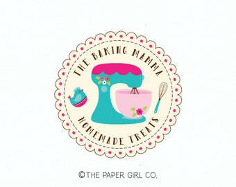baking logo mixer logo whisk logo premade logo bakers logo bakery logo cake logo cupcake logo baking blog logo chef logo cooking logo design
