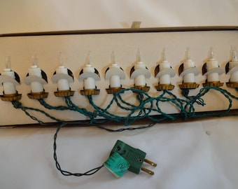 Christmas Candle Lights Vintage GE