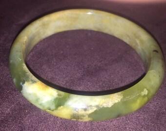 Multicolored jade bangle 2 1/4 inch inside diameter