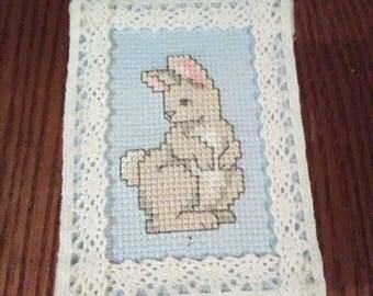 Cute Bunny Cross Stitch Trinket Box