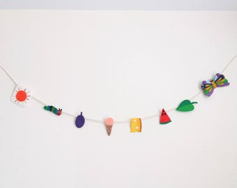 The VERY HUNGRY CATERPILLAR inspired Felt Garland
