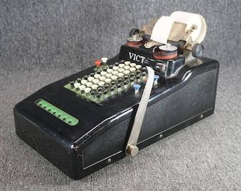 Vintage Victor Adding Machine Serial 235851 Working Condition C. 1935