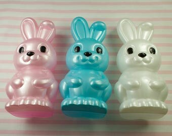 3 Fill It Yourself 7 Inch Easter Bunny Plastic Candy/Treat Containers